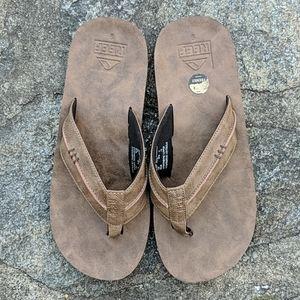 Reef Brown Vegan Leather Flip Flops